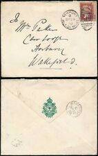 GB QV 1878 REGIMENTAL ENVELOPE PRINCESS of WALES OWN 1st YORKS SEVASTOPOL 1d RED