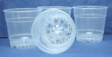 Clear Plastic Teku Pot for Orchids 4 1/2 inch Diameter - Quantity 4