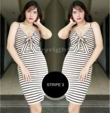 Mona Tie Bodycon Dress F1 (Stripe 3)