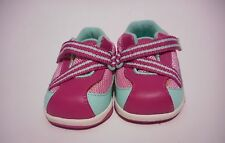 Genuine Kids Pink Leather Athletic Shoes Girls Infant Toddler Size 2 EUC