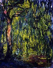Weeping Willow by French Claude Monet. Canvas Fine Art. 11x14 Print