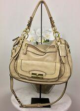 Coach Kristin Laila Pinnacle Satchel 19343 Shimmer Beige Leather Cross Body Bag