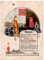 altes Blatt Werbung Ruf Dapolin Benzin Tankstelle Flyer A4 Handzettel DA PG