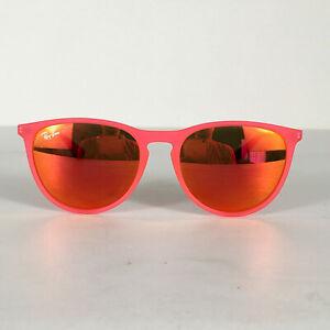 Preowned Ray Ban RJ9060S Matte Pink Round Mirrored Kids Sunglasses 50mm BG03