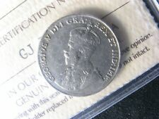 5 cents 1925 Canada ICCS F-15 Nickel coin c ¢ King George V half-dime