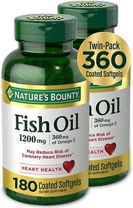 [2-Pack] Fish Oil by Nature's Bounty, Dietary Supplement, Omega-3, Supports...