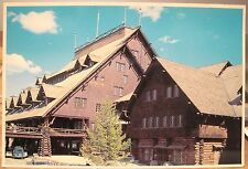 Vintage Postcard Old Faithful Inn Yellowstone Natl Park Vw Bug 4x6 Twa Services