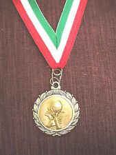 "Basketball dunk 1 3/4"" dia medal gold with neck ribbon"