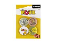 Simpsons Homer Blister de 4 Badges Officiels Neuf Simpsons official badges pack