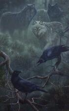 """Ervin Molnar """"From the Mist"""" Wolf Art Print Signed and Numbered   13.5"""" x 21.5"""""""