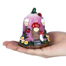 Miniature Flower Mushroom Garden Fairy Resin Ornament Figurine Plant DIY Decor