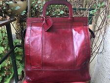 SAM BEER Ledertasche Vintage Reisetasche Weekender weinrot Leder Tasche