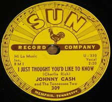 JOHNNY CASH ~ I JUST THOUGHT b/w IT'S JUST ABOUT TIME ~USA SUN 78 RPM E+ EX PLUS