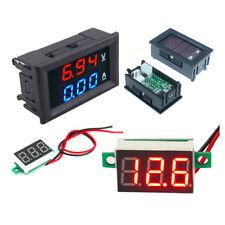Red Led Voltage Meter Dc 100v 10a Digital Dual Amp Voltmeter Ammeter Blue Red