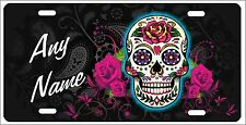 Sugar Skull Personalized Novelty Front License Plate Decorative Vanity Car Tag