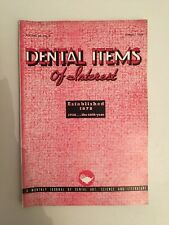 Dental Items of Interest n°8 A monthly Journal August 1938