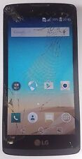 LG Leon H340 Black 8GB Smartphone Works Cracked Screen Need Replace For Parts