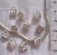 20 BELIERES 11x7MM METAL ARGENTE CLAIR ANNEAU bracelet collier breloque *E203