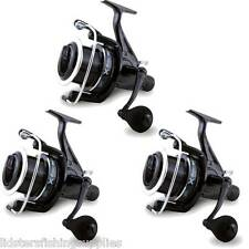 3 x Large 6BB Big Pit Large Carp Fishing Reels FREE Runner With Spare Spool