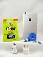 Apple iPhone 6 Plus - 16GB SILVER (Straight Talk/T-Mobile 4G LTE Nano SIM Card)
