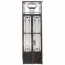 Antique Argentine Beaux Arts Wrought Iron Double Door Entry & Transom c. 1920