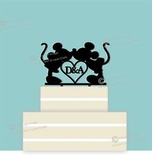 Disney Personalised Black Wedding Cake Topper, Couple, Engagement, Anniversary