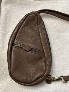 "Ameribag Healthy Back Bag Baglett 8"" Sling Chocolate Brown Leather Mini Backpack"