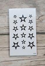 *UK SELLER* Stars Waterproof TEMPORARY TATTOO Body Arthenna tattoo /-a35-/