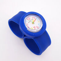 Children's Unisex Rubber Jelly Slap Wrist Watch For Boys Girls Kids Hand Gift