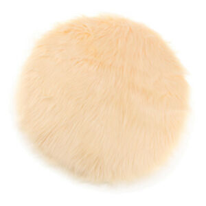 Artificial Sheepskin Chair Seat Pads 12inch Round Pad Floor Rugs Washable