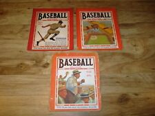 1921 Baseball Magazine June, August & September of 1921
