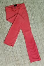DENIMOCRACY SKINNY KICK BOOT PINK Sz 28 JEGGING JEANS ACTL 28X33 USA NICE! L12