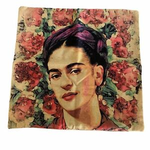 "Frida Kahlo Portrait Weave Throw Pillow Case Cover 17"" x 17.5"" Feminist LGBTQ"