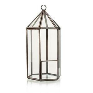 Glass Terrarium - Lantern Shape - Plants - Decoration
