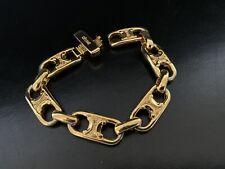 GOLD CELINE BAR LOGO Vintage Bracelet NOS!!