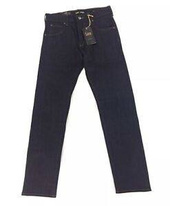 NEW Lee Vintage Modern Collection Dark Blue Raw Regular Taper Mens Denim Jeans