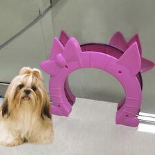 Premium Interior cat door Pass Interior Indoor, Hidden Litter Box Dog Flag Pink