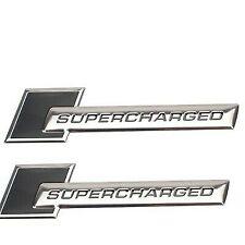 2x Supercharged Audi Badges Black A3 A4 S3 S4 A5 S5 A6 S6 S7 S8