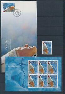 XC77326 Gibraltar 2005 pope John Paul II fp FDC + XXL sheet mixed