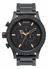 **BRAND NEW** NIXON WATCH THE 51-30 CHRONO ALL BLACK / ROSE GOLD A083957 NIB!
