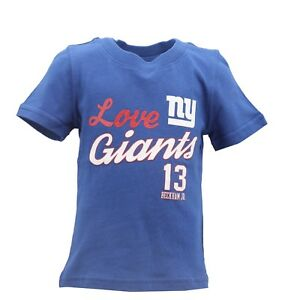 New York Giants Official NFL Youth Kids Girls Size Odell Beckham T-Shirt New
