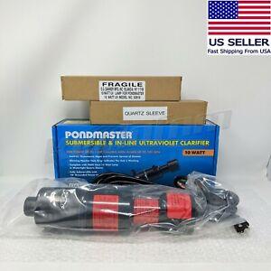 *NEW* Pondmaster DNR02910 UV Light Pond Water Clarifier Sterilizer 10 Watt