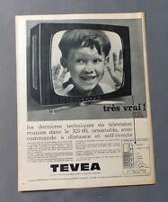 PUB PUBLICITE ANCIENNE ADVERT CLIPPING 310817 / TELEVISEUR TEVEA XS 60 COMMANDE