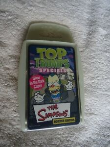 The Simpsons Horror Edition - Top Trumps - Specials with Glow in the Dark Case