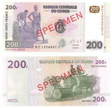 Congo 200 francs 2013 !!! Specimen!!!!! NC1234567J