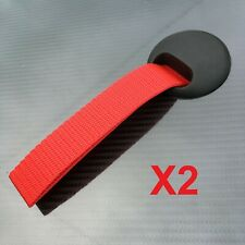 Door pulls Race Rally Motorsport Track Day Kit car handle grab strap pair RED