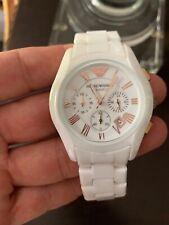 Emporio Armani Ceramica White Unisex Watch  Chronograph MSRP $ 445.00