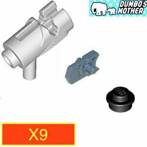 Lego Blaster Light Bluish Gray Star Wars Blaster Shooter Gun Weapon X10
