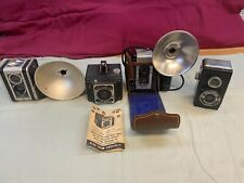 Vintage 4 Camera Lot Kodak Pro-Tak Argus Metropolitan Duaflex Argoflex Clix