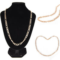 Fashion 18K Gold Plated Men's Punk Chain Necklace Women Long Necklace Jewelrycja